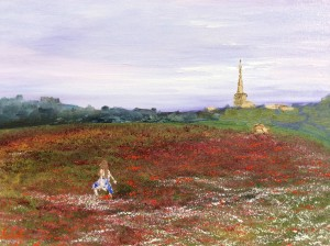 skipping through the poppies