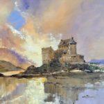 Eilean Donan Castle, art, painting